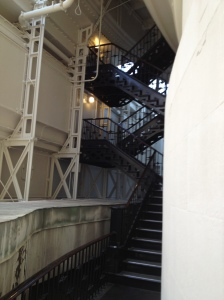 One of the more open staircases