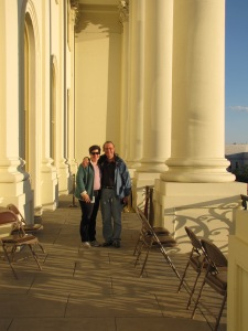 With my BH on the Balcony of the Capitol